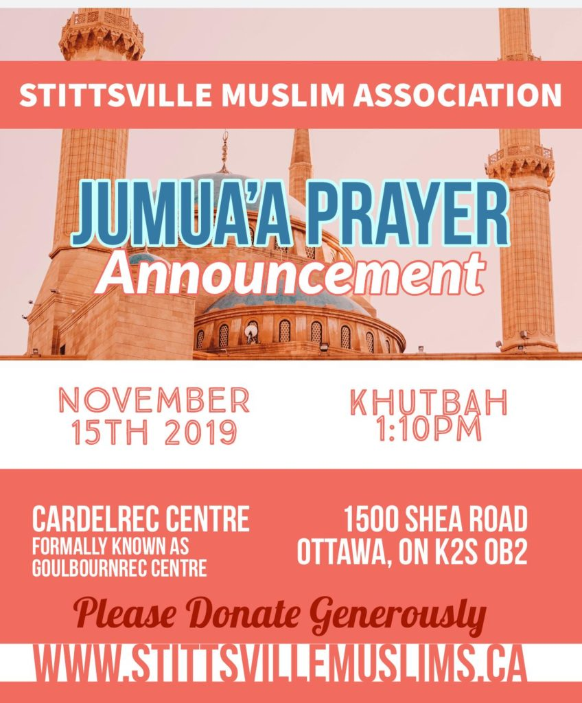 Friday Jummah pray 15 Nov 2019