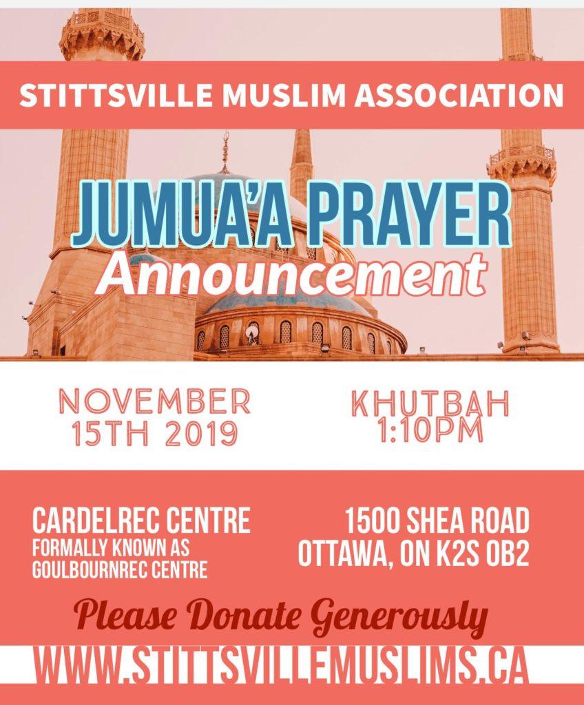 Friday Jummah pray 15 Nov 2019