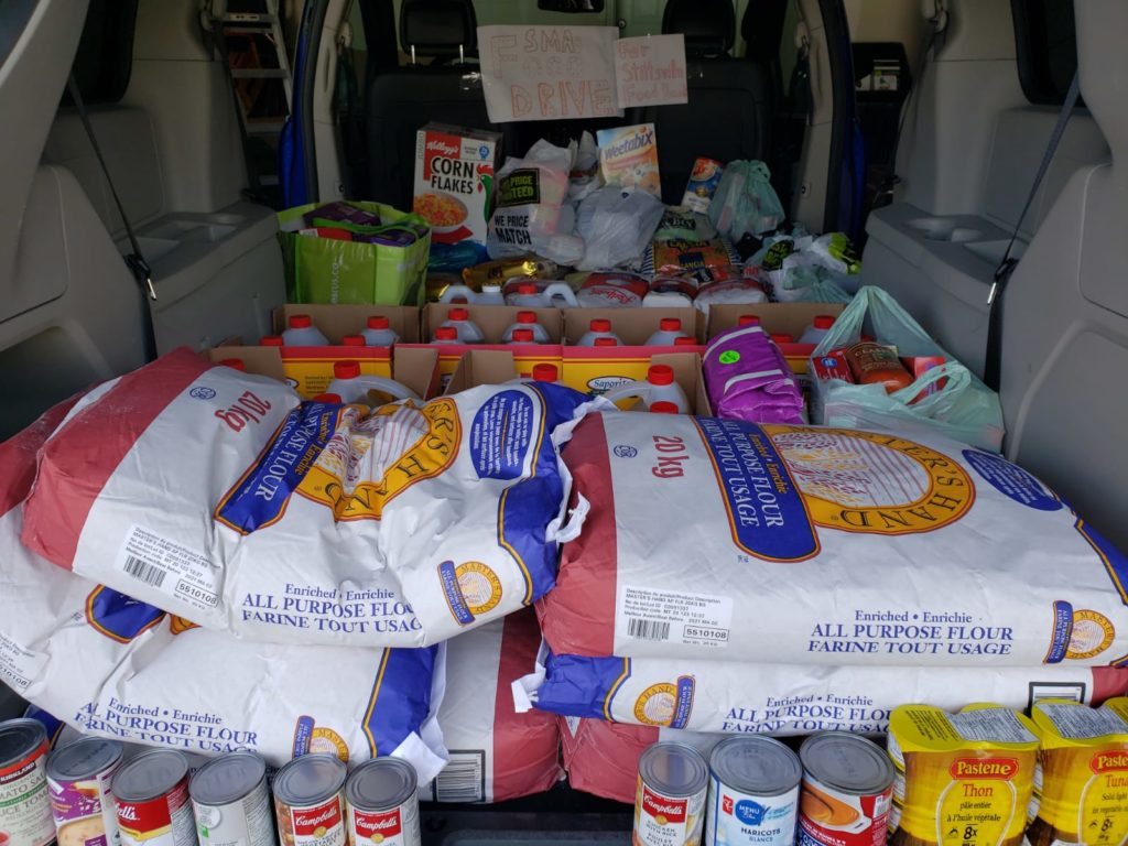 SMA COVID-19 Food Drive 1st drop off to Stittsville Food Bank during Ramadan 2020